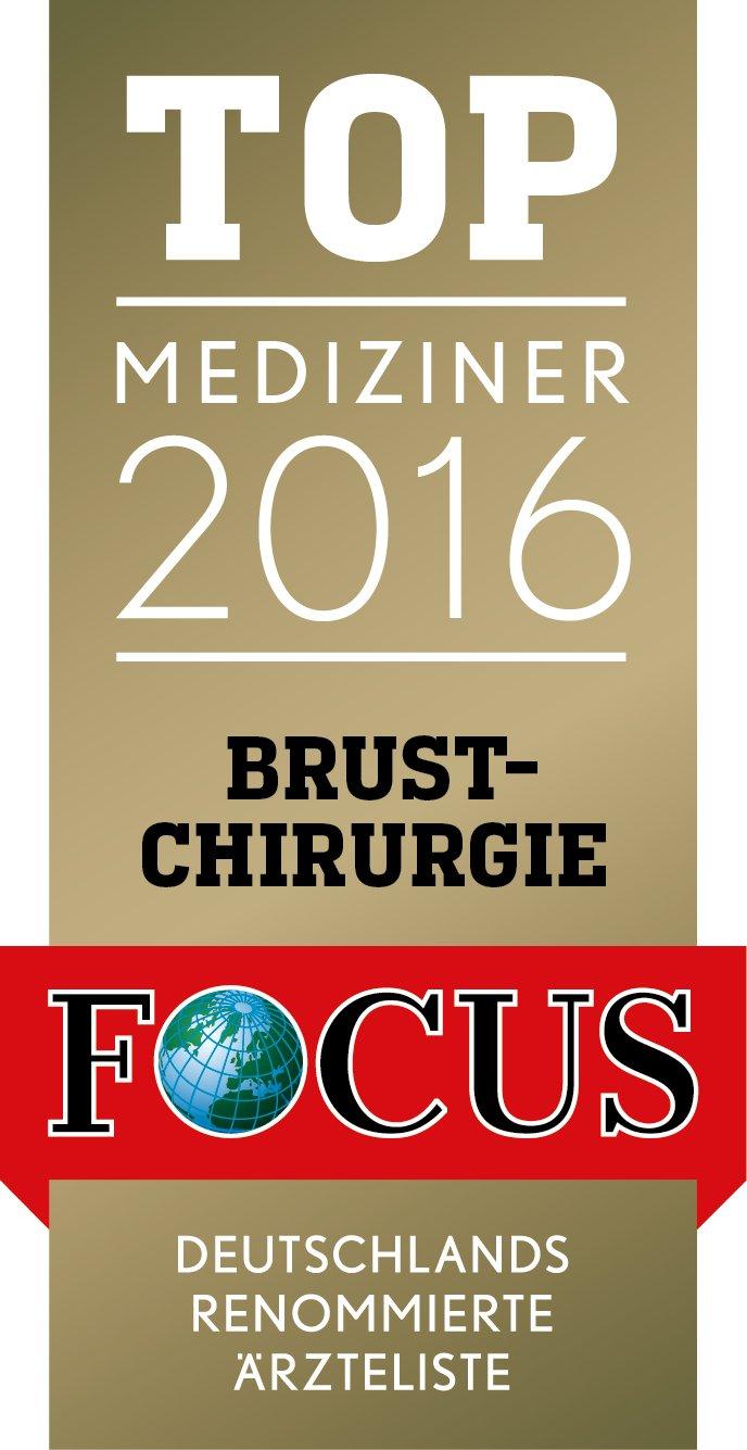 Dr. H. W. Hörl ist TOP Mediziner 2016 im Bereich Brustchirurgie